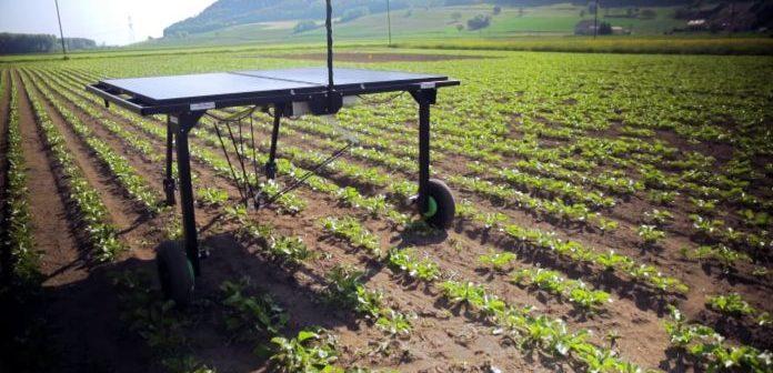 Un robot inteligent dotat cu baterii solare face minuni pe terenurile agricole din Elveția. Video